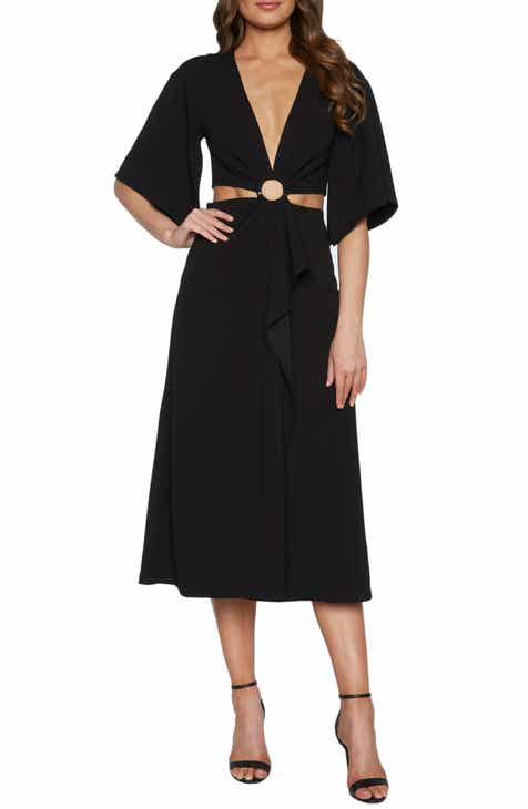 Bardot Teri Ring Midriff Cocktail Dress