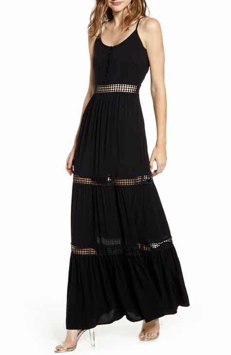 Jack By BB Dakota Sleeveless Eyelet Maxi Dress