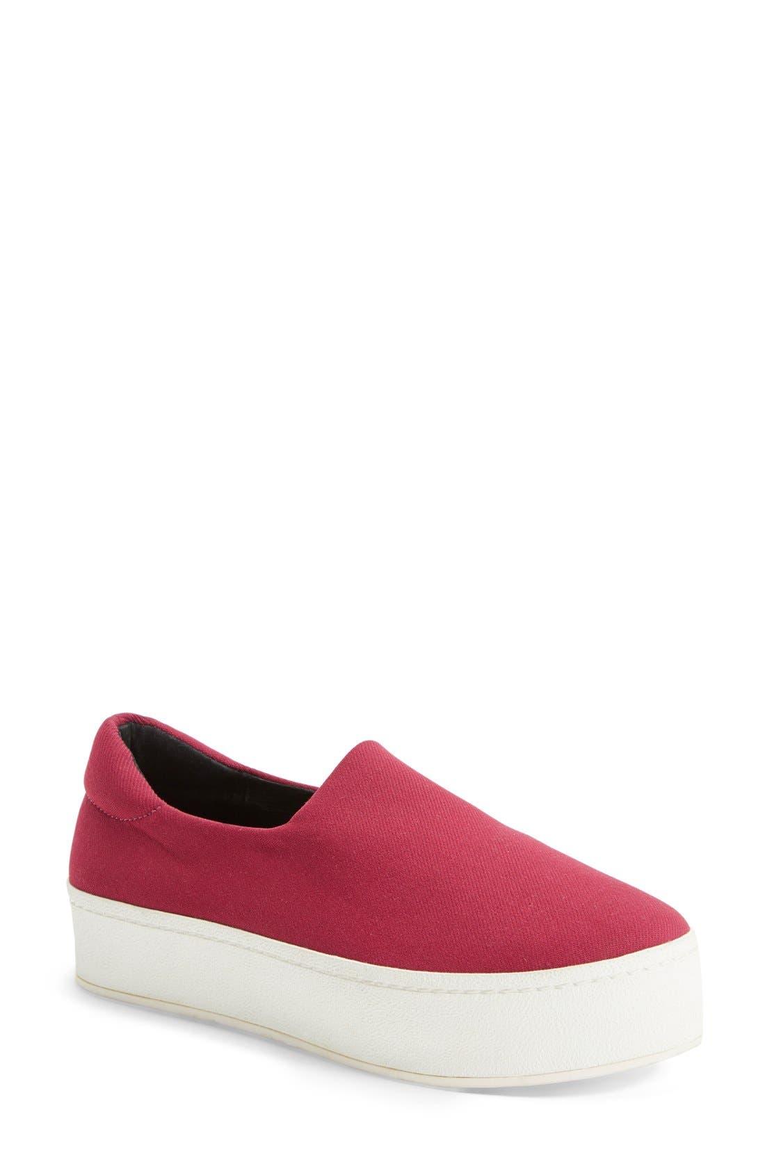 'Grunge' Slip-On Platform Sneaker,                             Main thumbnail 1, color,                             Raspberry
