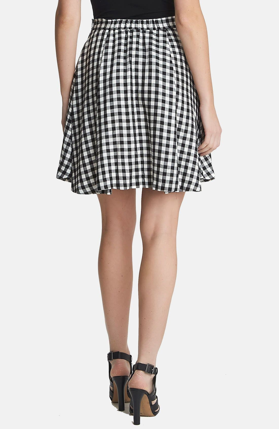 Alternate Image 2  - 1.STATE Gingham A-Line Skirt