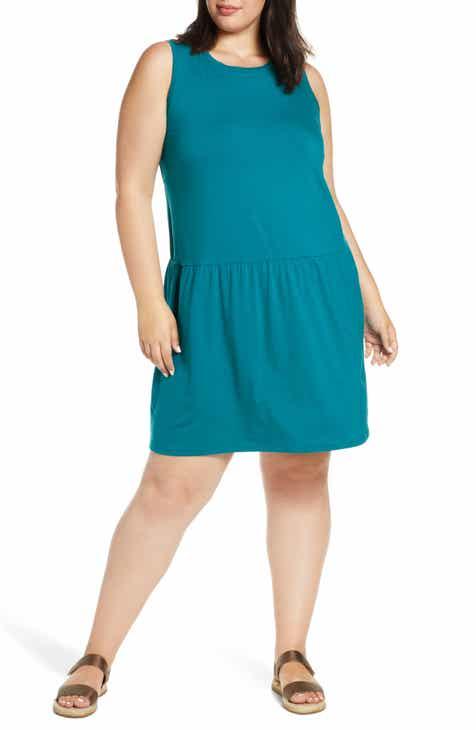 98b883b34cb Eileen Fisher Drop Waist Jersey Dress (Plus Size)