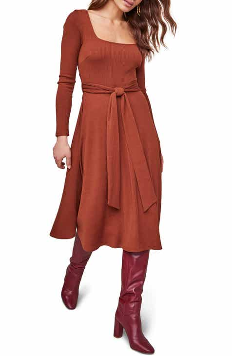 ASTR the Label Sinclair Midi Dress On Sale