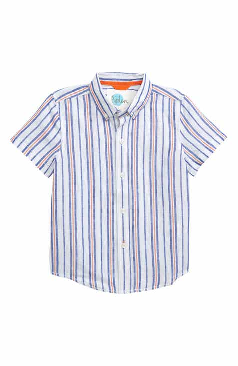 e79113d98 Mini Boden Fun Stripe Woven Shirt (Toddler Boys, Little Boys & Big Boys)