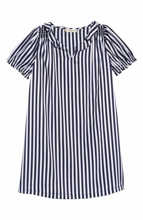 0f6a277b79b8 Tucker + Tate Shine Stripe Puff Sleeve Dress (Toddler Girls, Little Girls &  Big Girls)