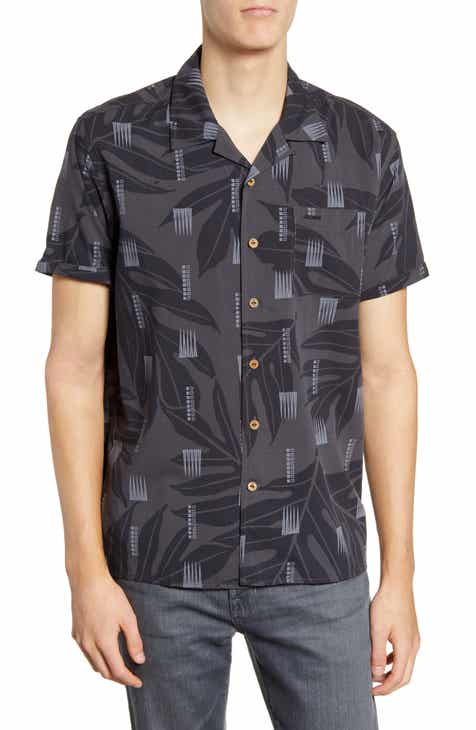dbf38205cd85c7 Hurley Sig Zane Maloulu Short Sleeve Button-Up Camp Shirt