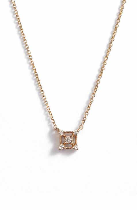 71e310757 Dana Rebecca Designs Square Diamond Pendant Necklace