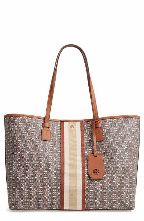 74a77e1afc Tory Burch Gemini Link Coated Canvas Tote
