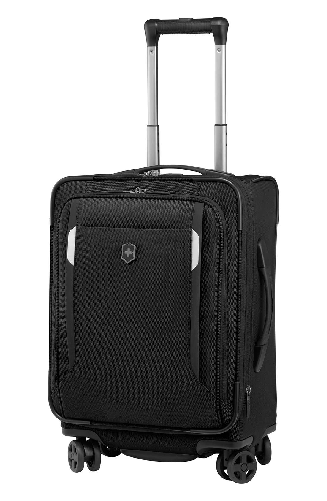 WT 5.0 Dual Caster Wheeled 20-Inch Carry-On,                             Main thumbnail 1, color,                             Black