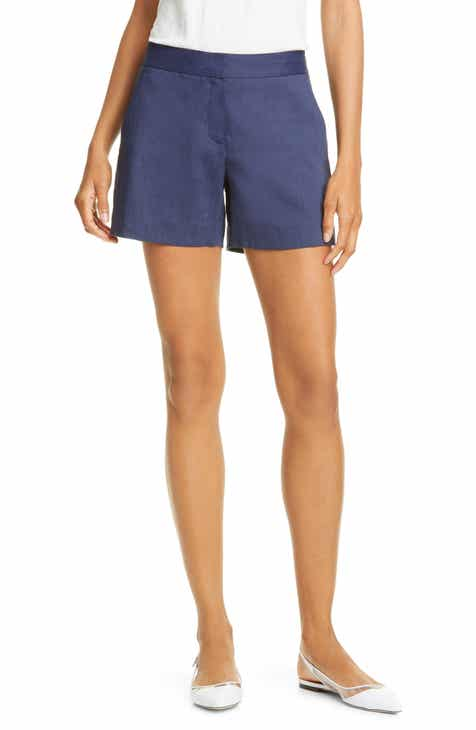 NYDJ Linen & Cotton Bermuda Shorts (Sand Stripe) by NYDJ