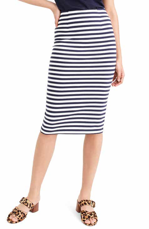 30f5055850 J.Crew Stripe Knit Pencil Skirt