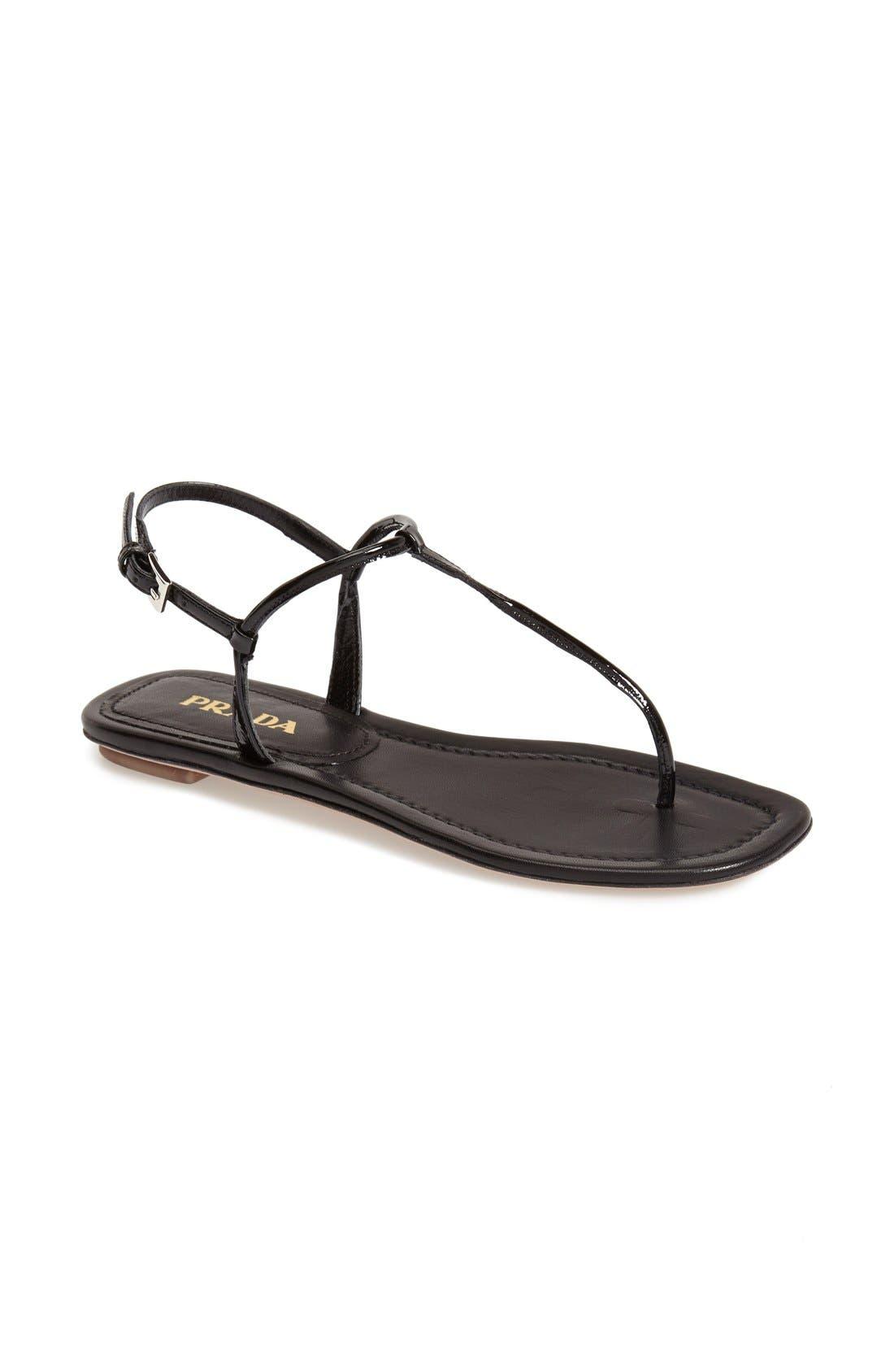 Alternate Image 1 Selected - Prada T-Strap Thong Sandal