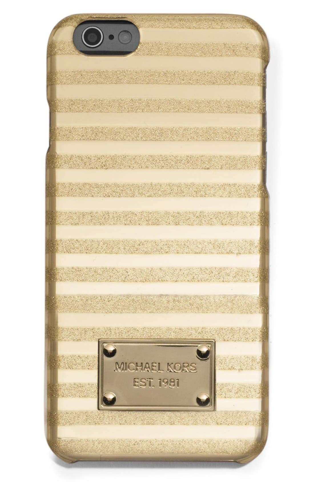 Alternate Image 1 Selected - MICHAEL Michael Kors 'Candy Stripe' iPhone 6 & 6s Case