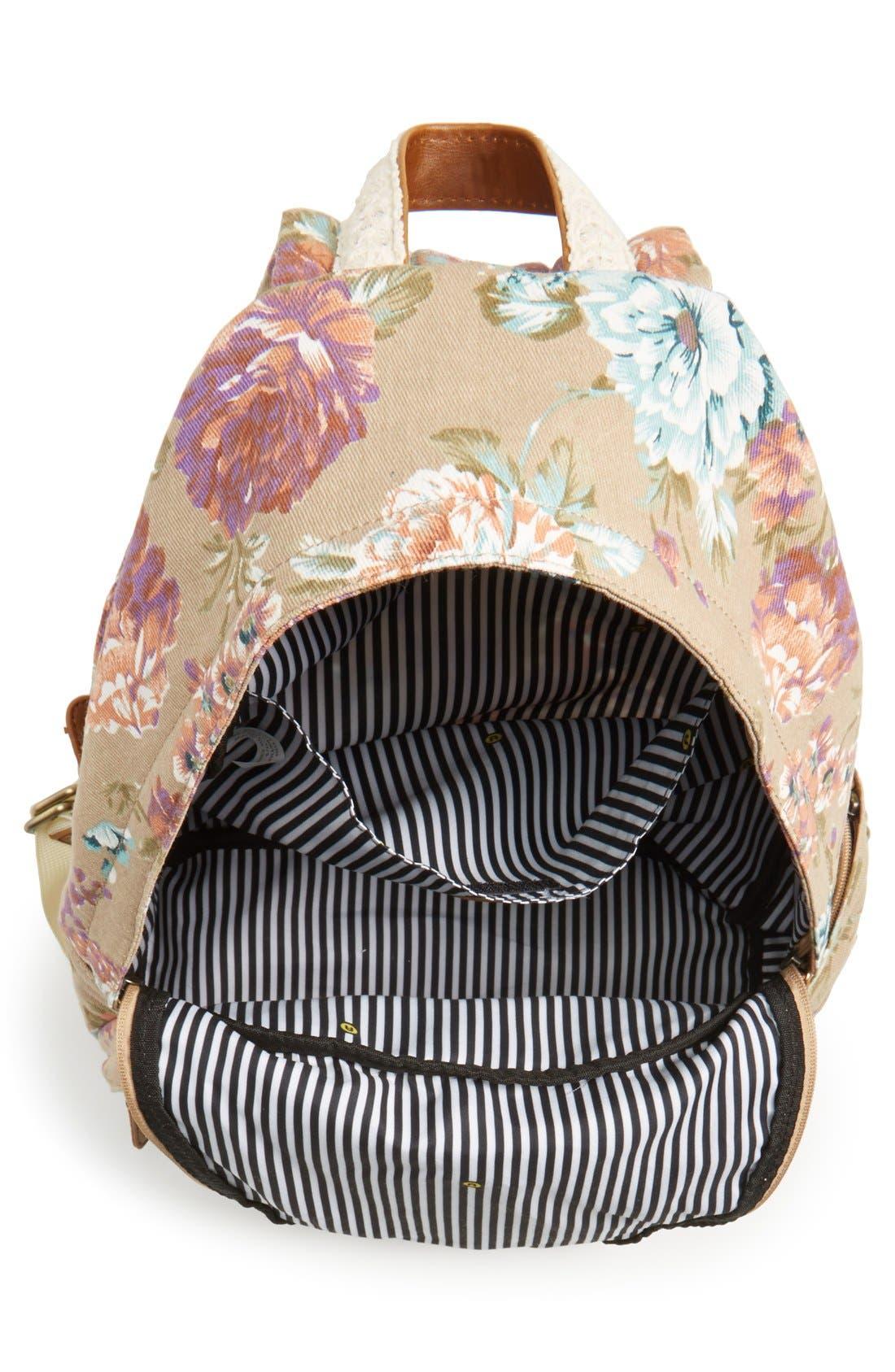 Alternate Image 4  - Nila Anthony Floral Print Backpack
