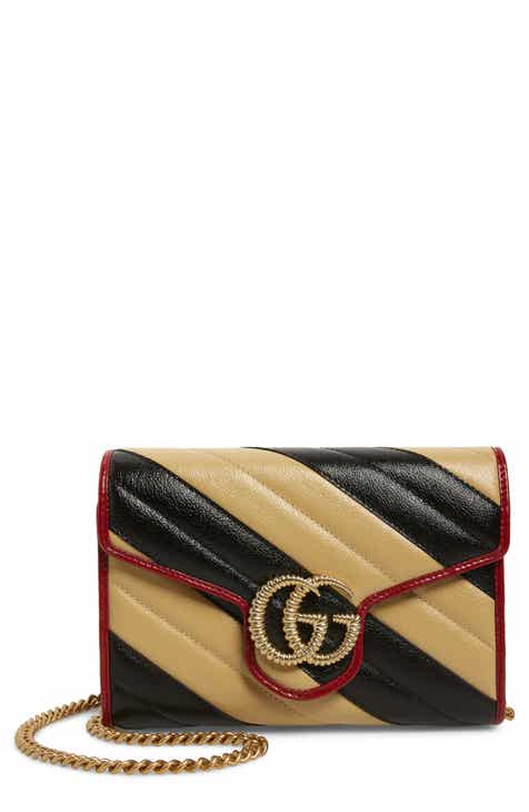 3f78f482237 Gucci GG Marmont Matelassé Leather Wallet on Chain