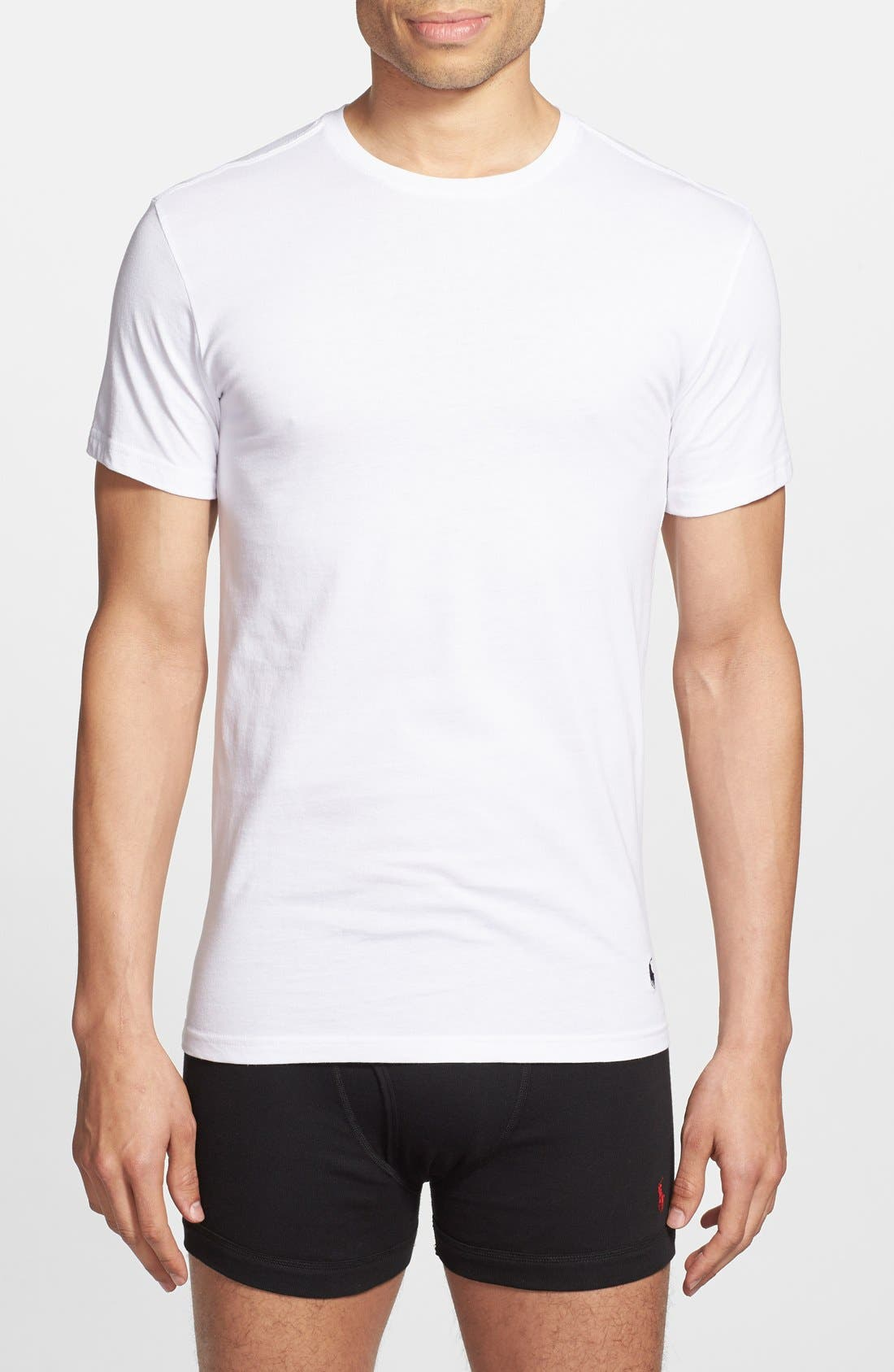 3-Pack Slim Fit T-Shirt,                         Main,                         color, White/ White
