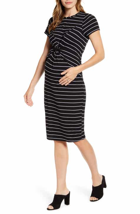 8ebf5209567c1 Fourteenth Place Knot Front Maternity Dress