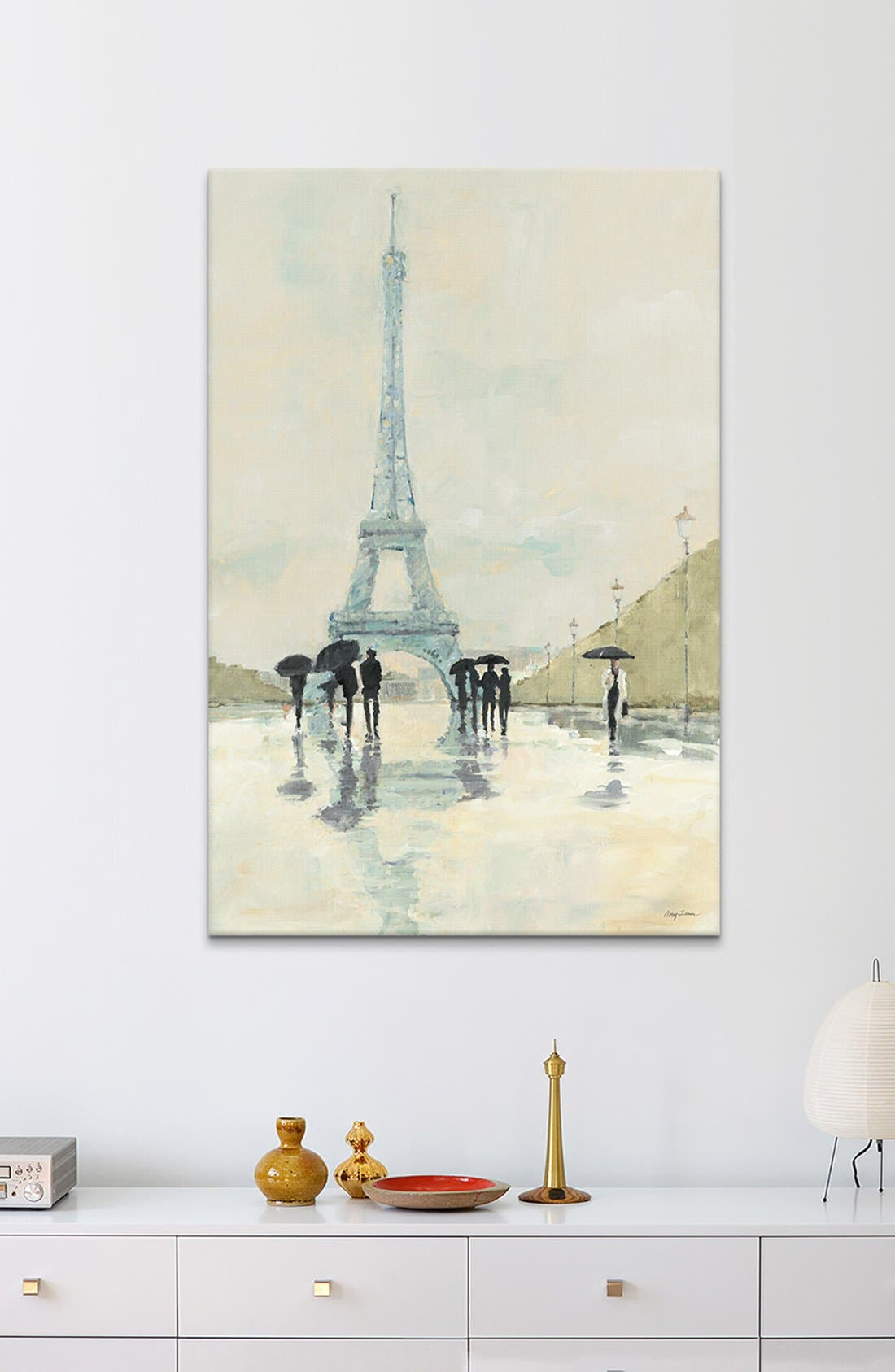 Alternate Image 2  - iCanvas 'April in Paris - Avery Tillmon' Giclée Print Canvas Art