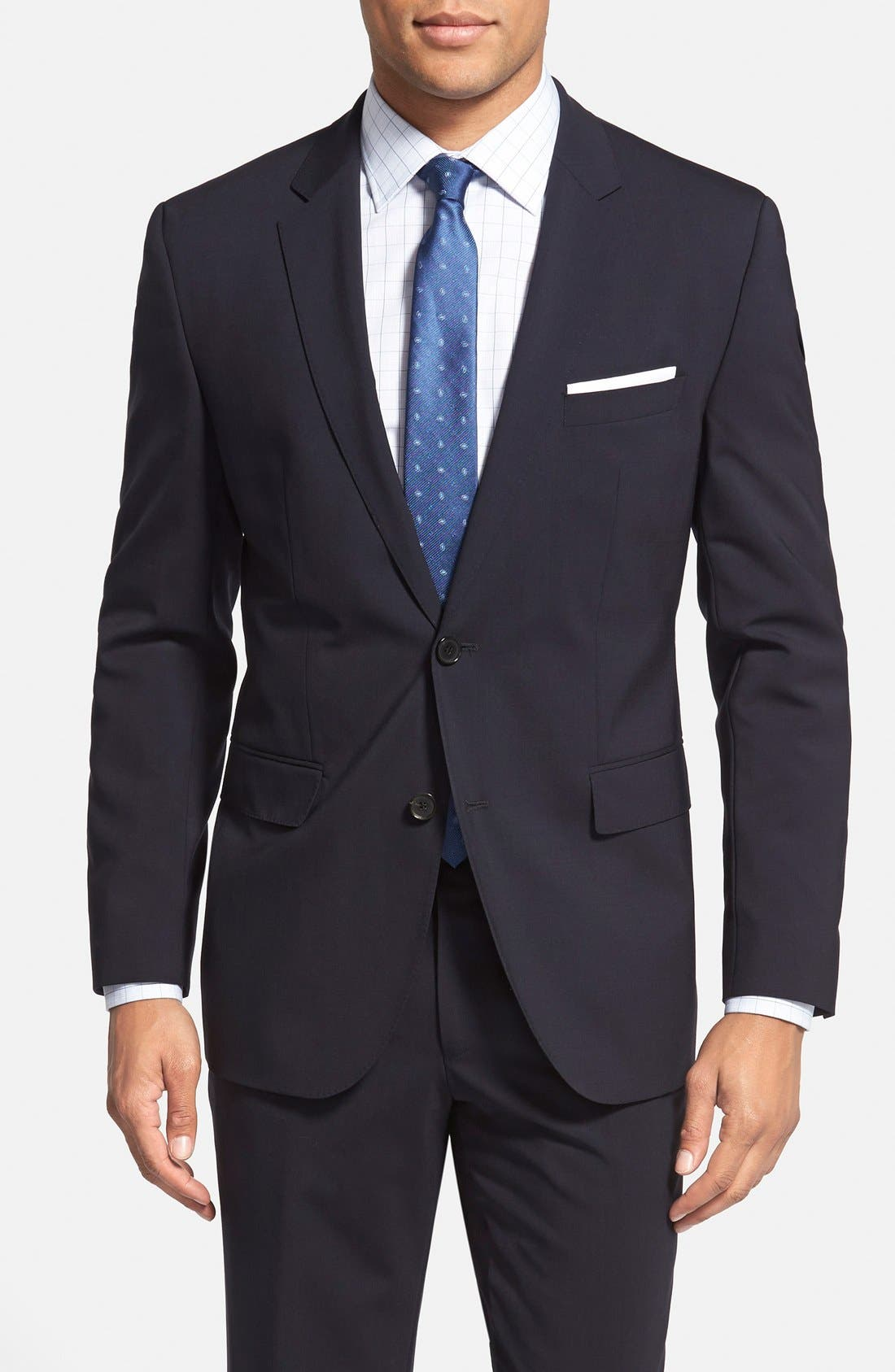 Alternate Image 3  - BOSS 'Jam/Sharp' Trim Fit Navy Suit