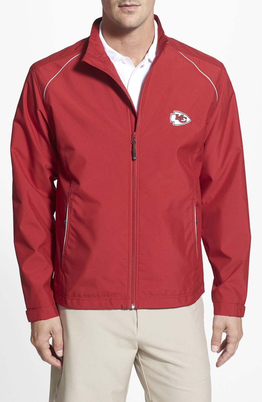 Cutter & Buck Kansas City Chiefs - Beacon WeatherTec Wind & Water Resistant Jacket