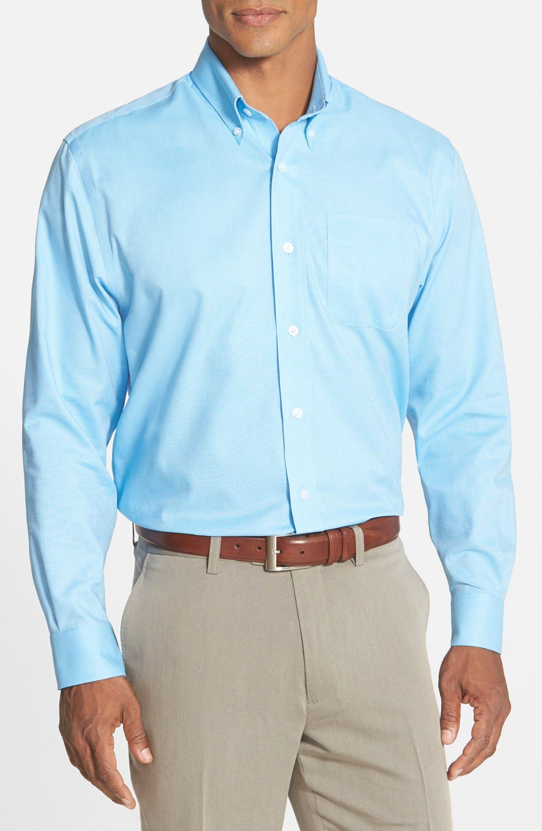 'Nailshead' Classic Fit Sport Shirt,                         Main,                         color, Atlas