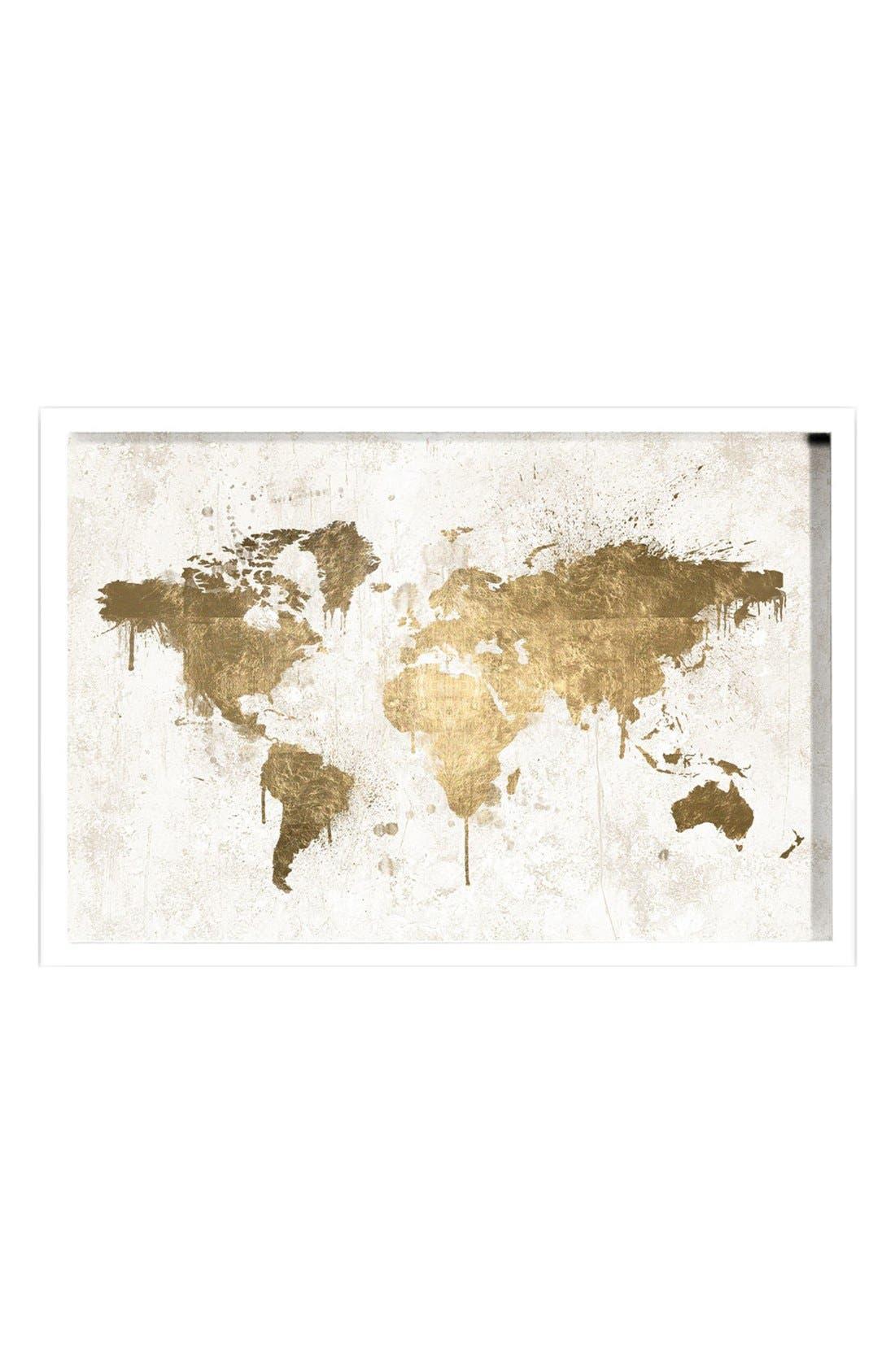 Alternate Image 1 Selected - Oliver Gal 'Mapamundi' Framed Art Print