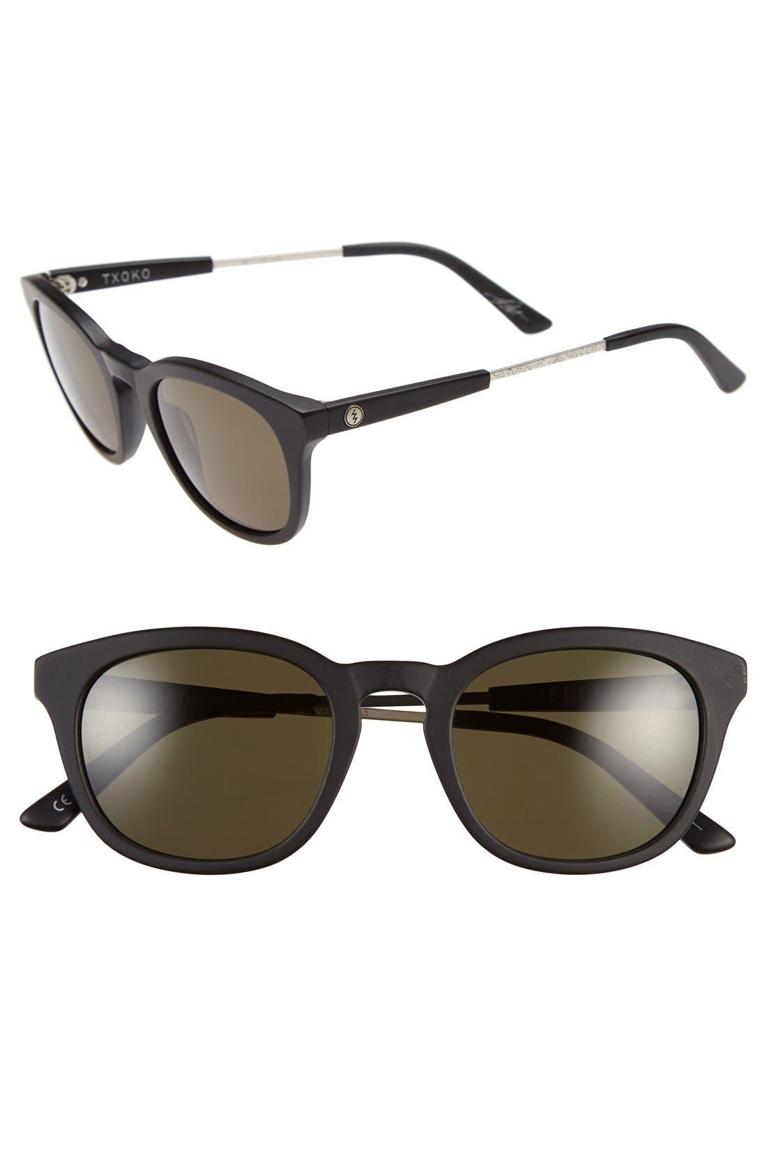 'Txoko' 50mm Sunglasses,                         Main,                         color, Matte Black/ Grey