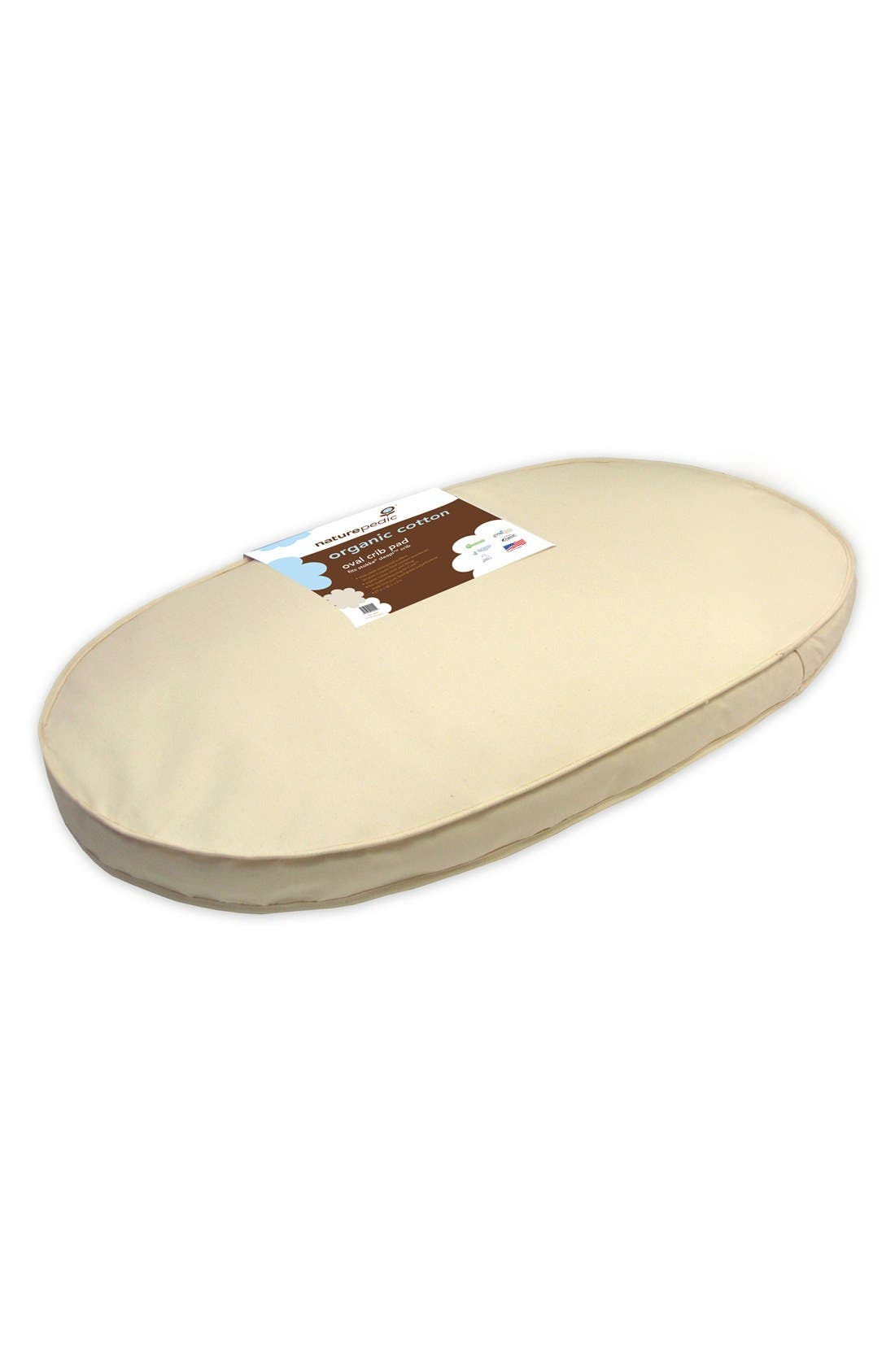 Alternate Image 1 Selected - Naturepedic Organic Cotton Oval Crib Mattress for Stokke Sleepi Crib