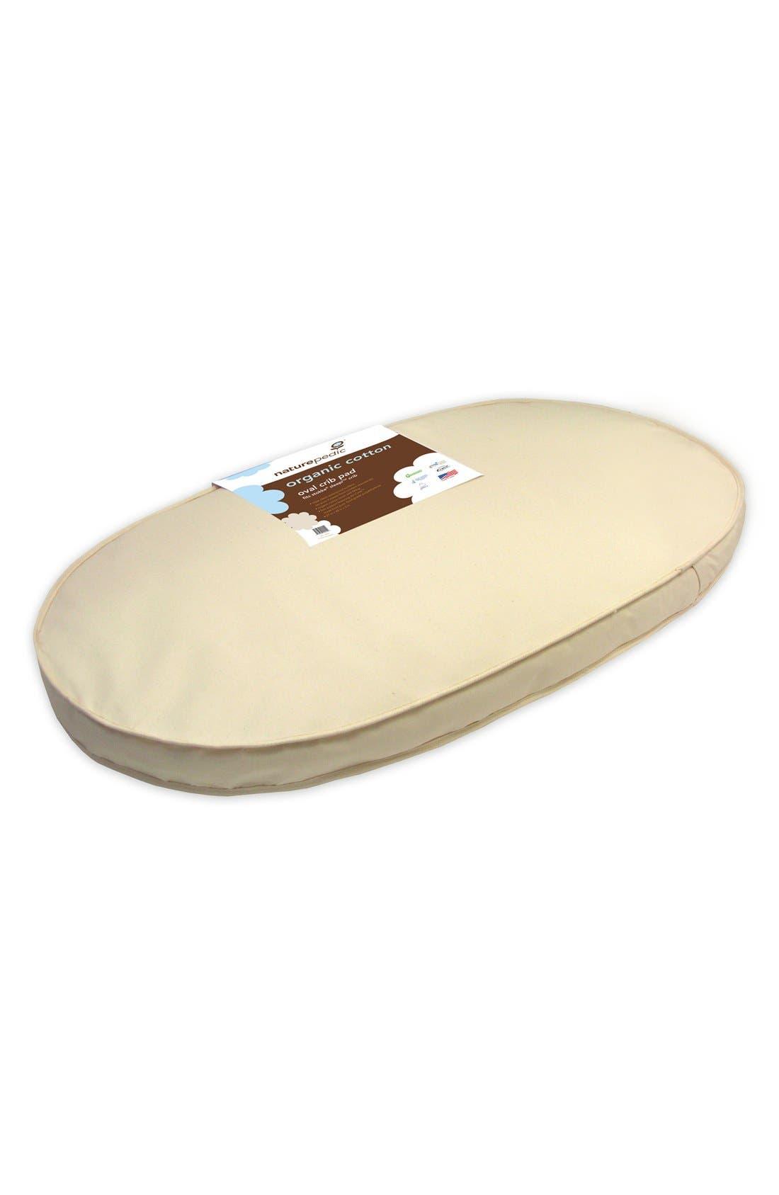 Naturepedic Organic Cotton Oval Crib Mattress for Stokke Sleepi Crib