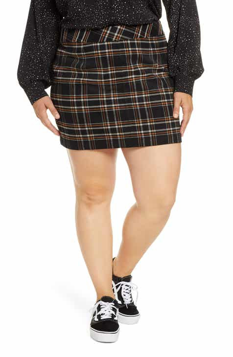 BP. Plaid Miniskirt (Plus Size)