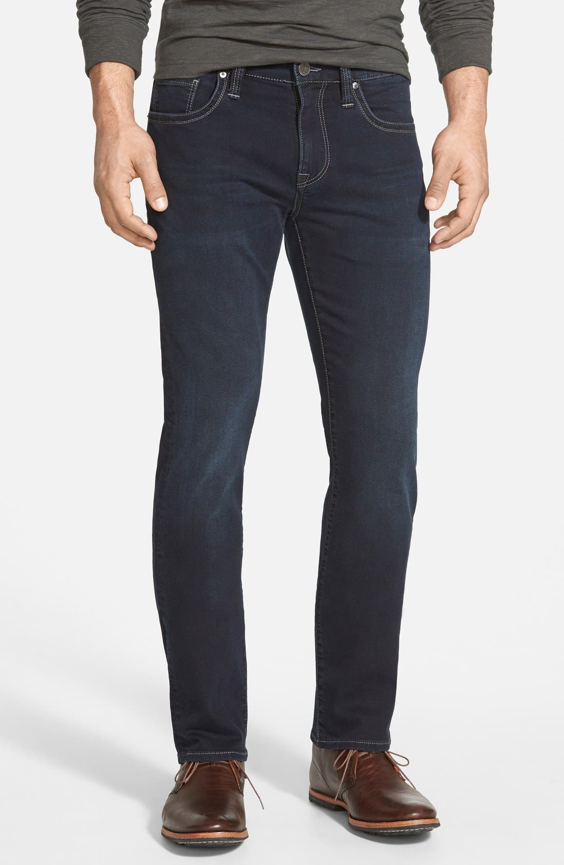34 Heritage 'Courage' Classic Straight Leg Jeans (Midnight Austin) (Online Only)