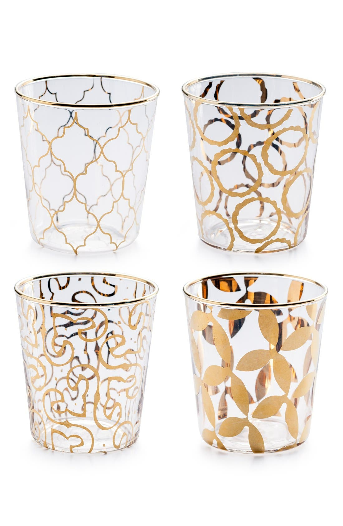Main Image - Rosanna 'Luxe Moderne' Double Old Fashioned Glasses (Set of 4)