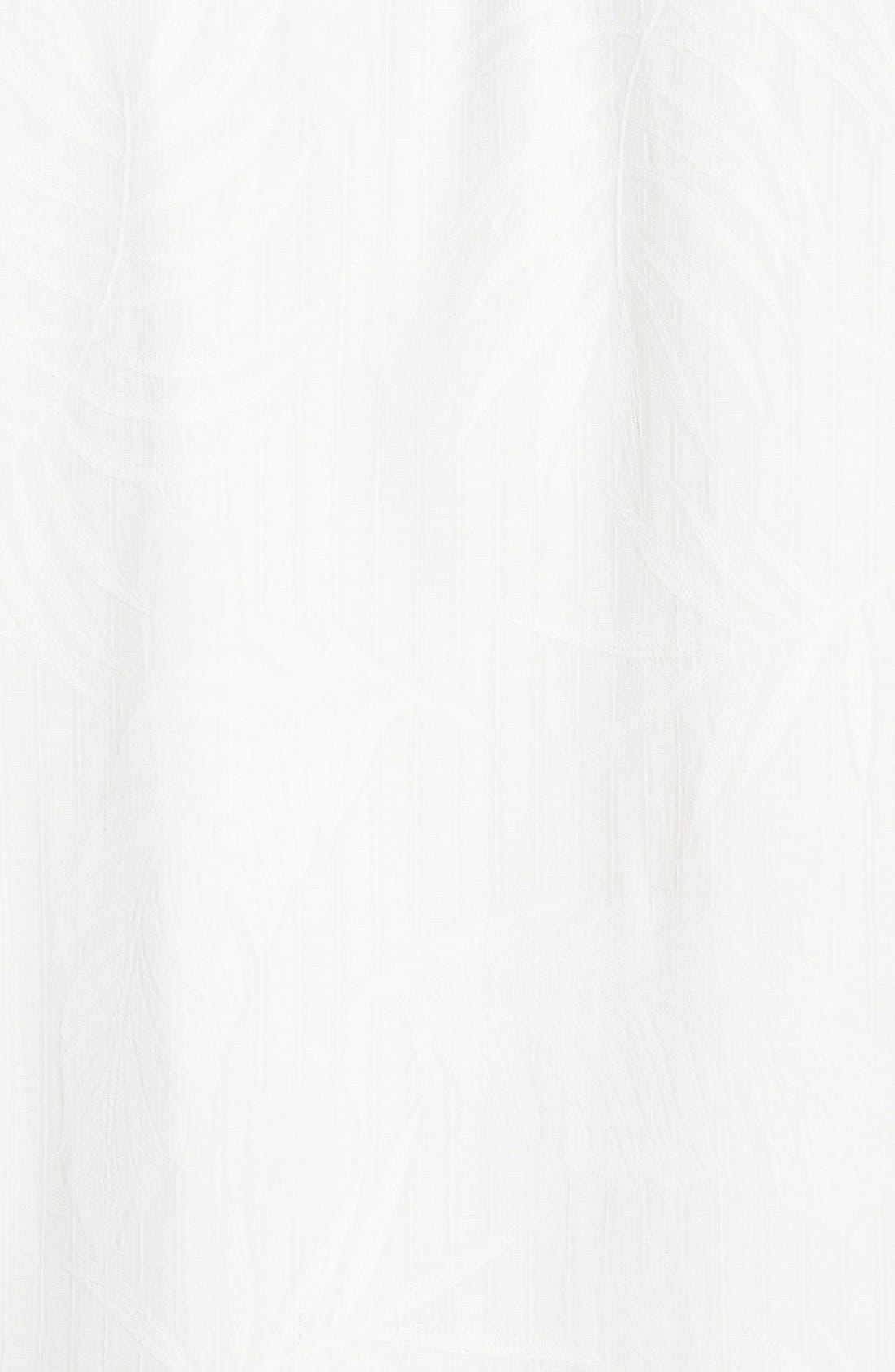 'Tiki Palms' Original Fit Jacquard Silk Camp Shirt,                             Alternate thumbnail 3, color,                             Coconut
