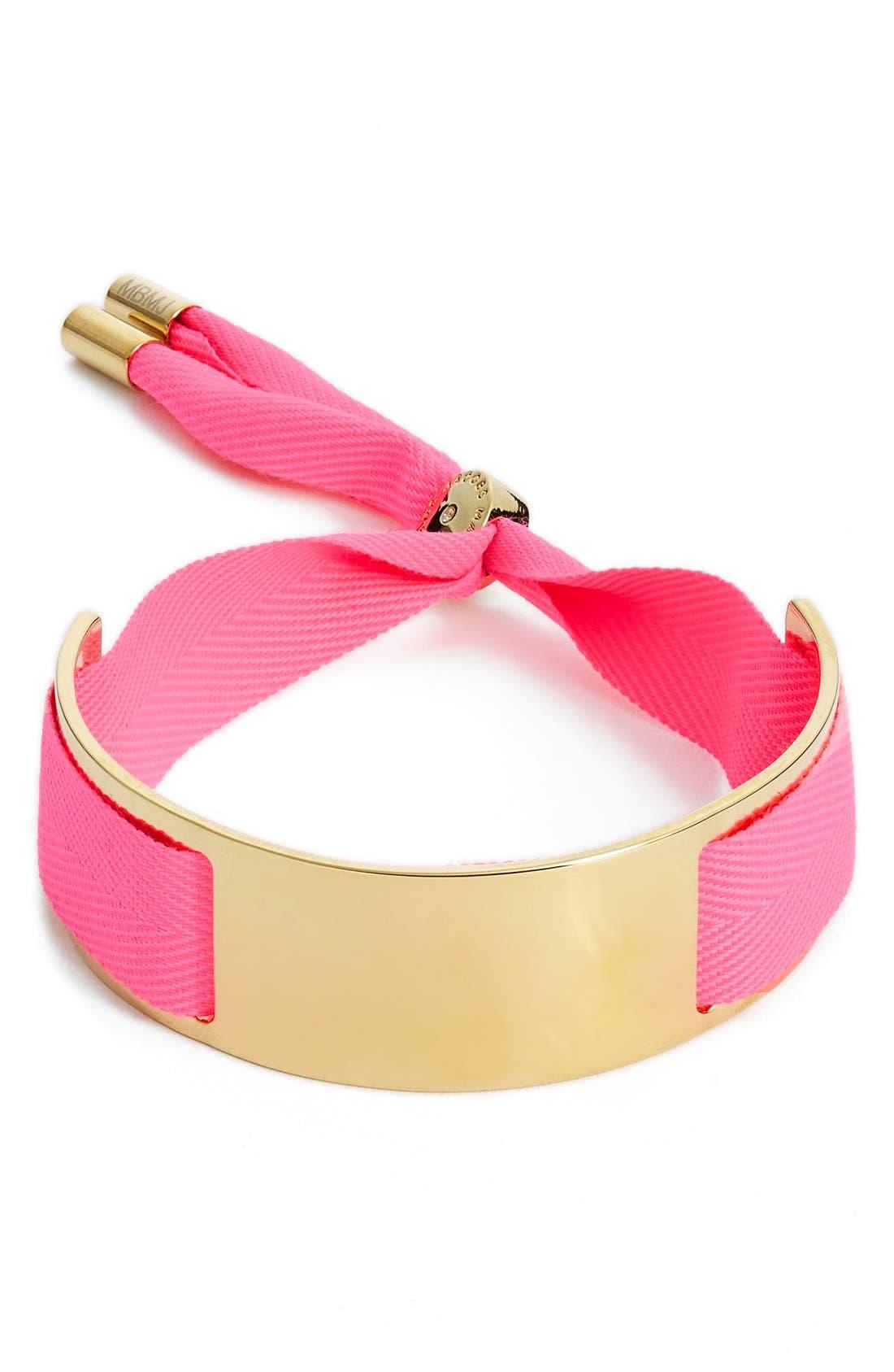 Ribbon Friendship Bracelet,                         Main,                         color, Knock Out Pink