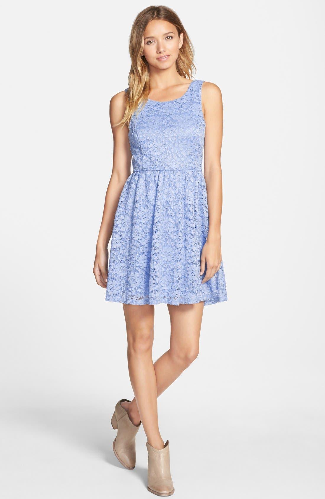Main Image - Lush Lace Skater Dress
