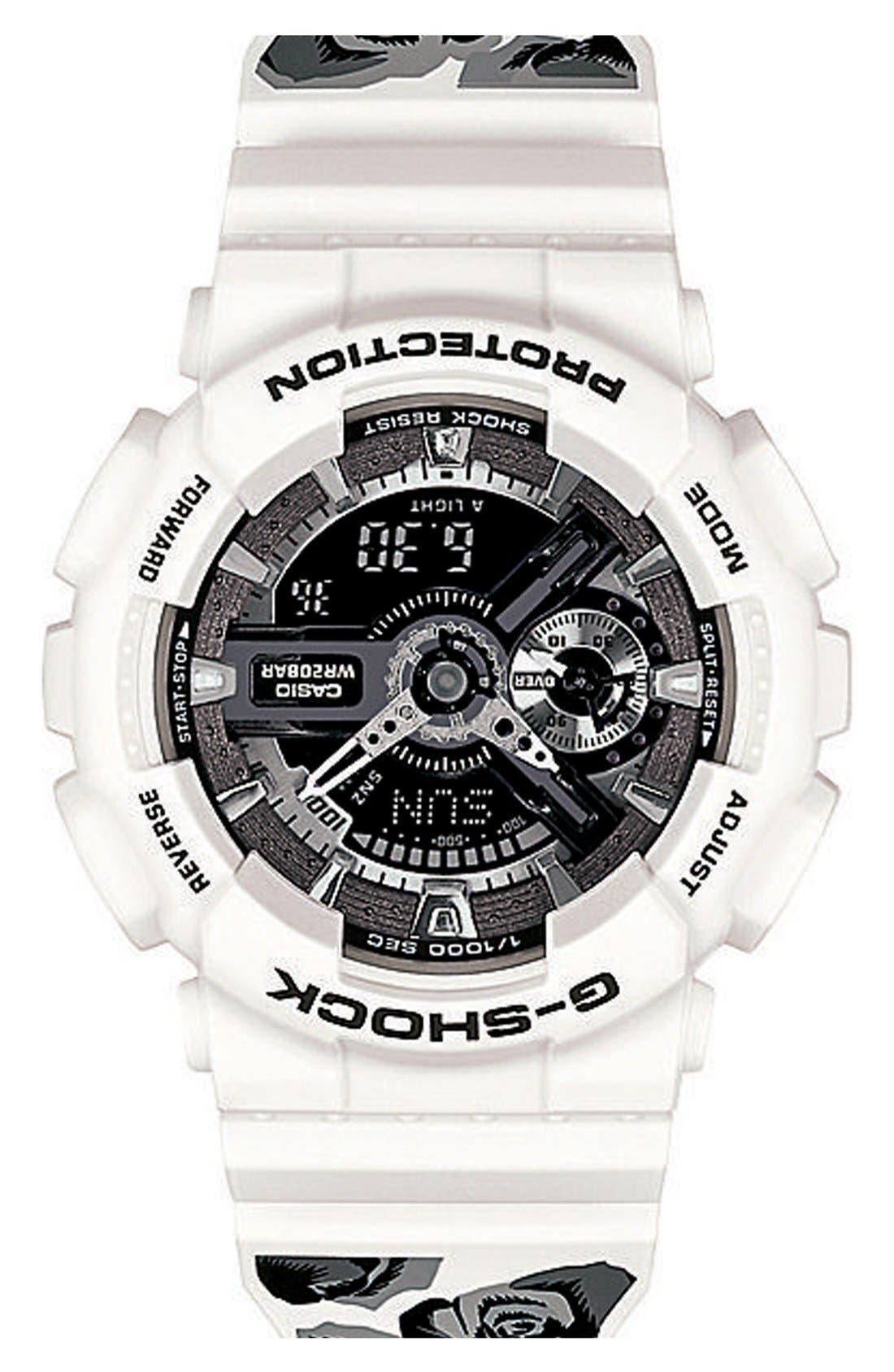Alternate Image 2  - G-Shock 'S-Series' Floral Band Resin Ana-Digi Watch, 49mm