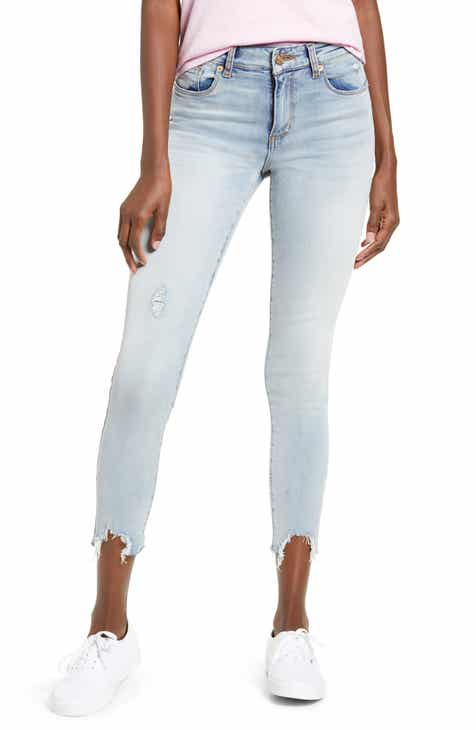 STS Blue Eillie High Waist Destroyed Hem Skinny Jeans (Edgewood)