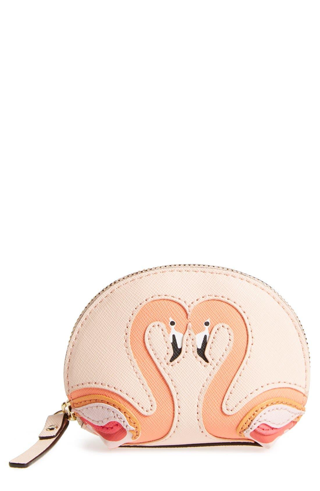 Alternate Image 1 Selected - kate spade new york 'strut flamingo' coin purse