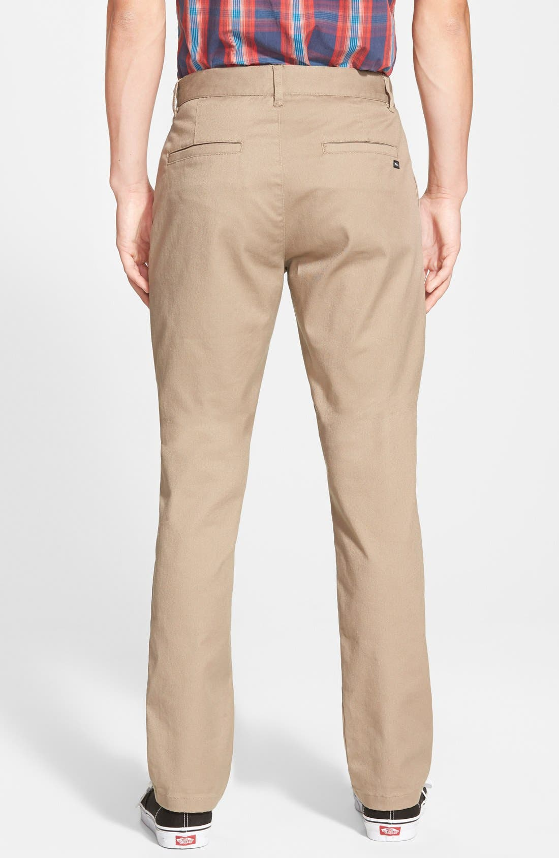 Alternate Image 2  - RVCA 'The Week-End' Slim Straight Leg Stretch Twill Chinos (Online Only)