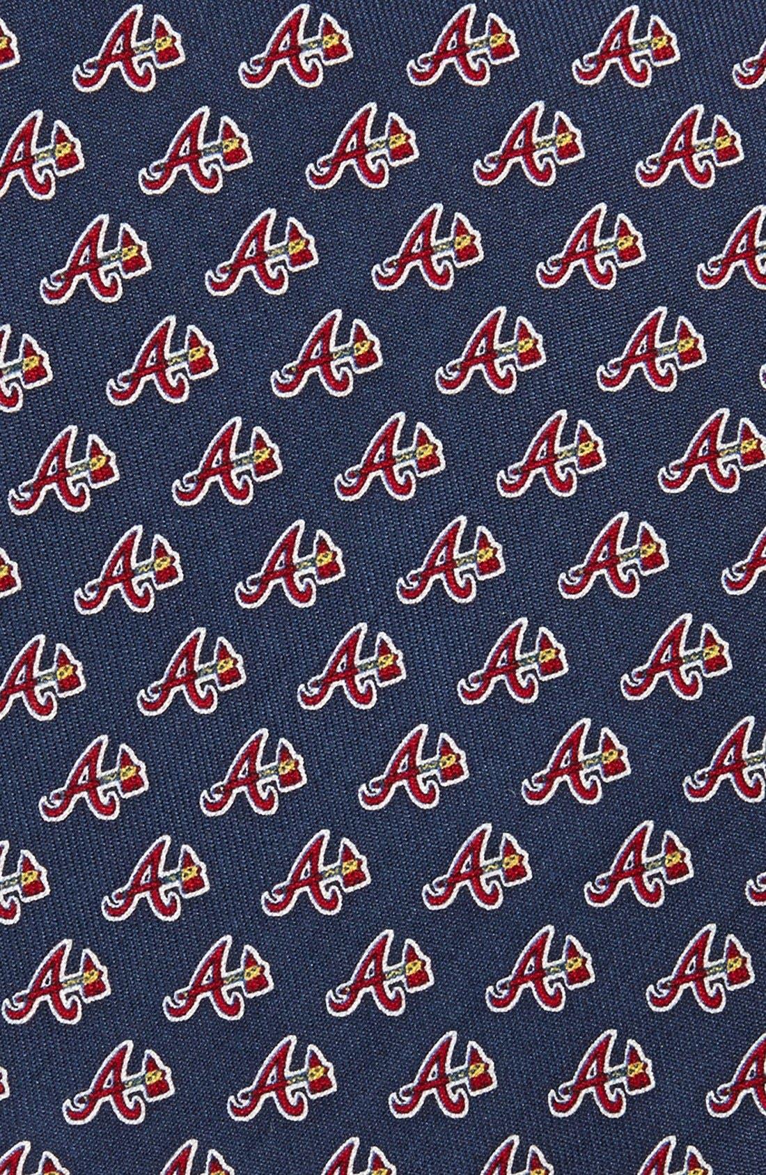 Alternate Image 2  - vineyard vines Atlanta Braves - MLB Print Silk Tie