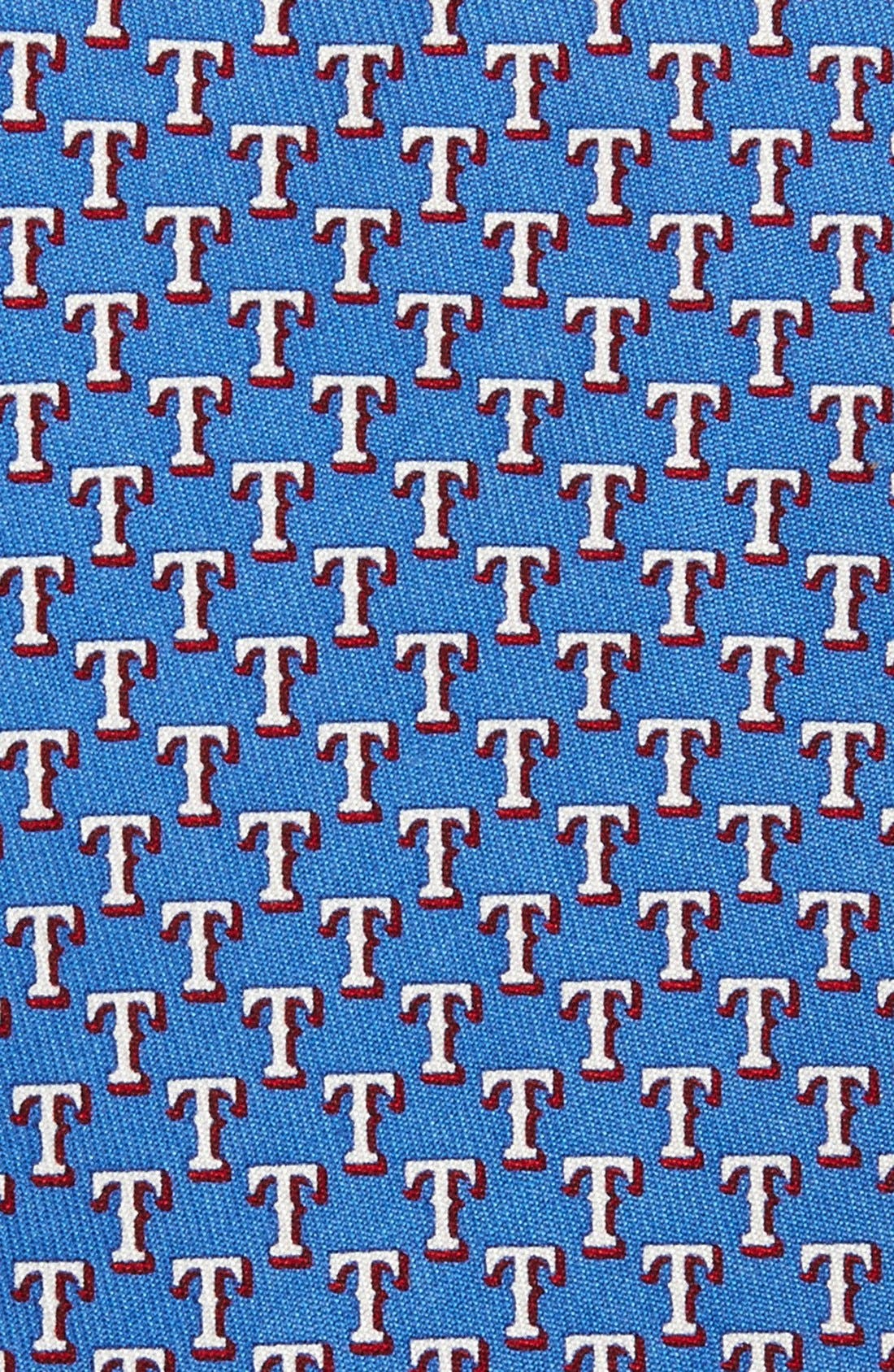 Texas Rangers - MLB Print Silk Tie,                             Alternate thumbnail 2, color,                             Royal Blue