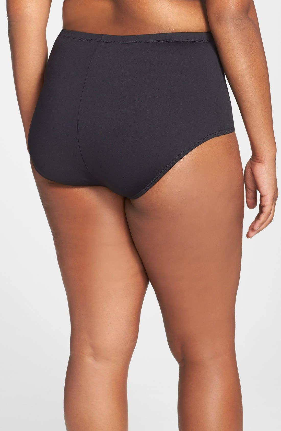 Alternate Image 2  - La Blanca High Waist Bikini Bottoms (Plus Size)