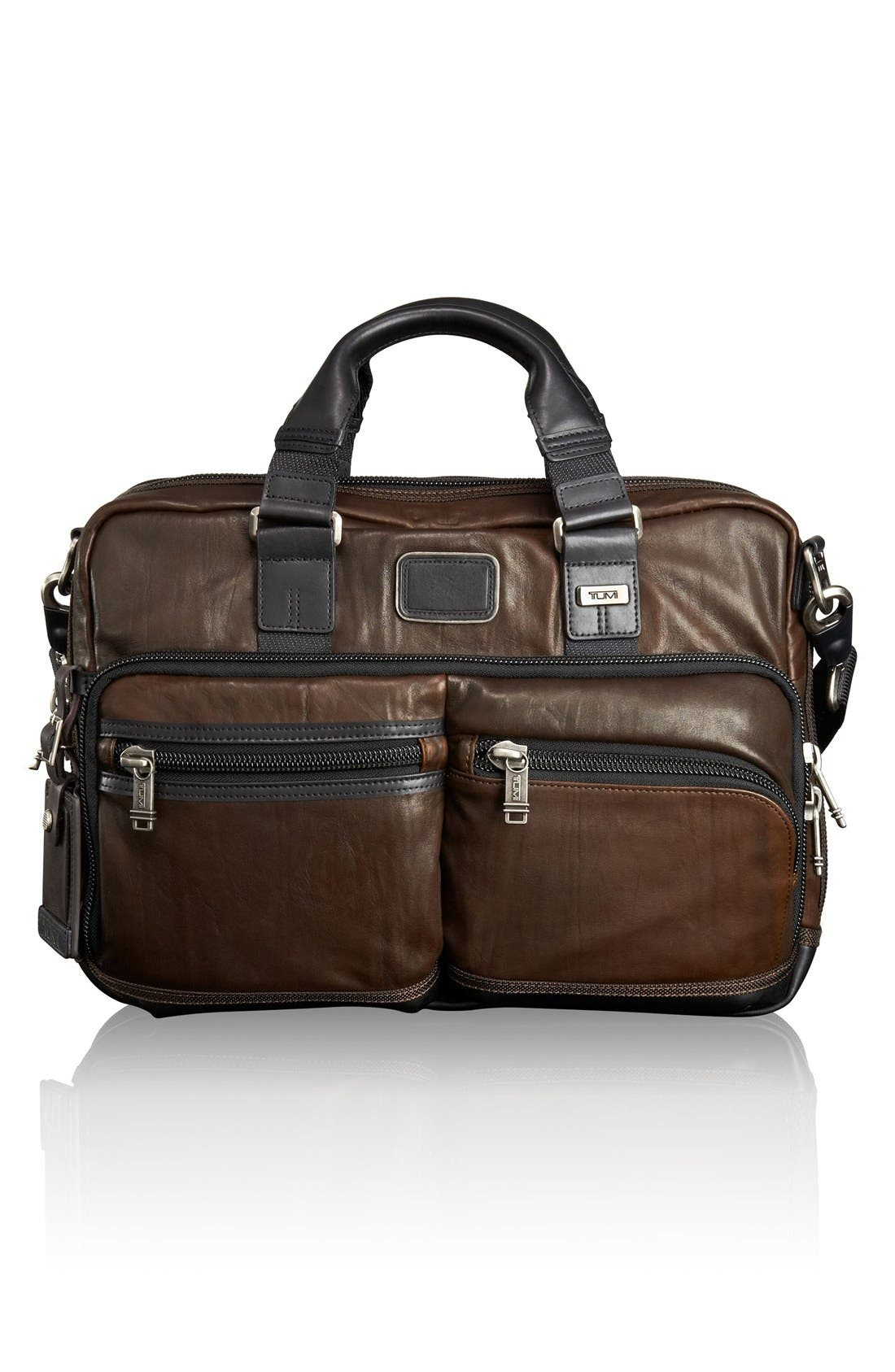 TUMI Bravo Leather Commuter Briefcase