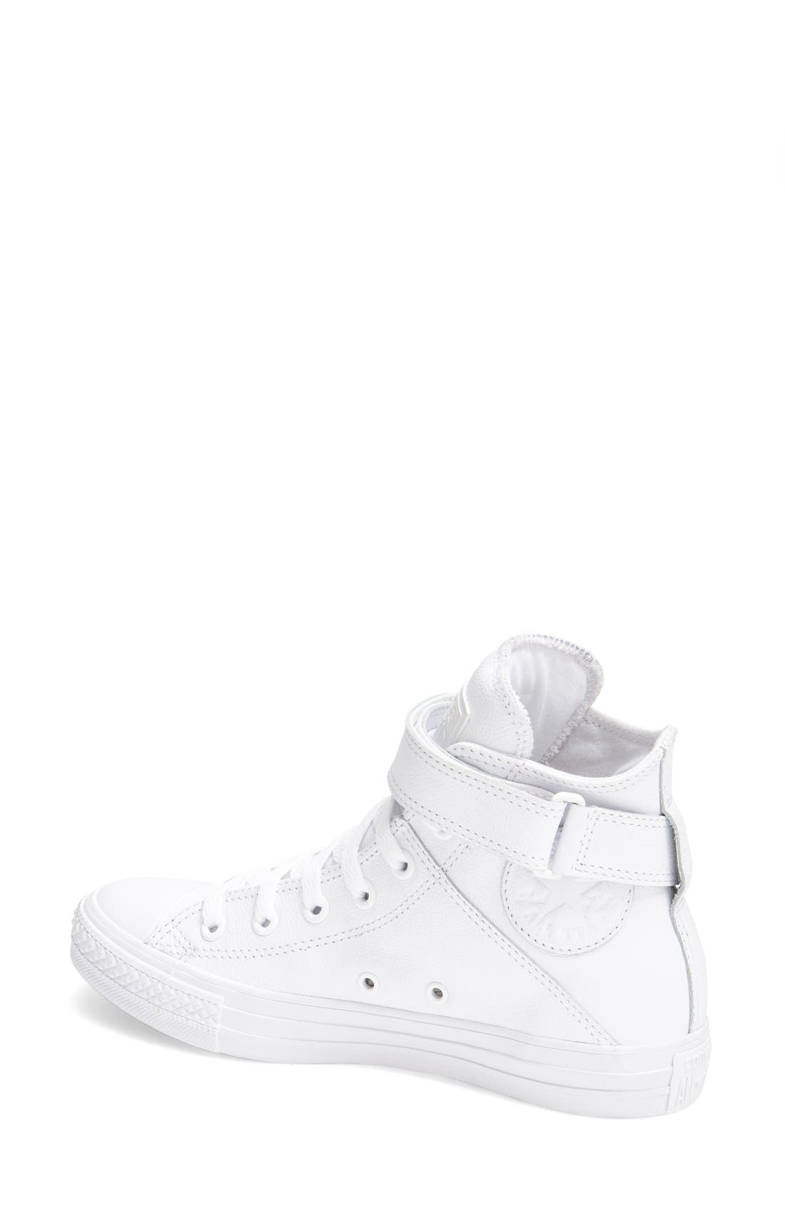 Alternate Image 2  - Converse Chuck Taylor® All Star® 'Brea' Leather High Top Sneaker (Women)