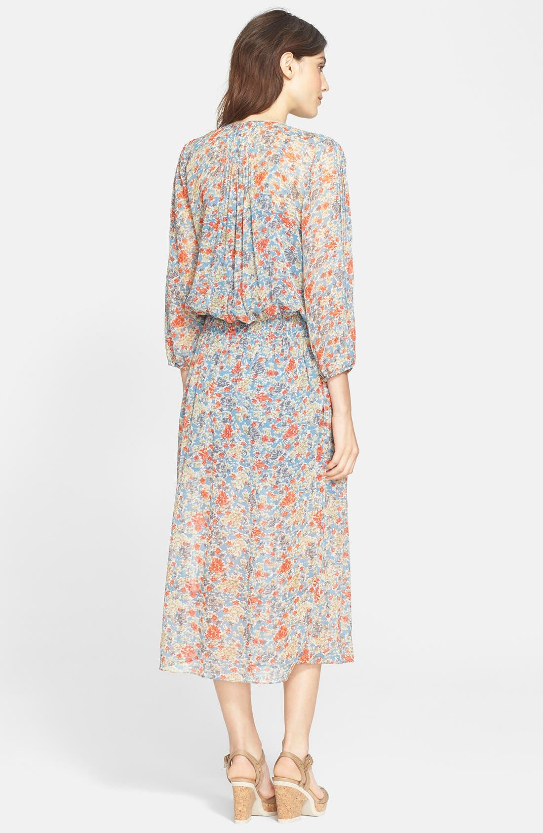 Alternate Image 2  - Joie 'Pasclina' Floral Print Silk Midi Dress