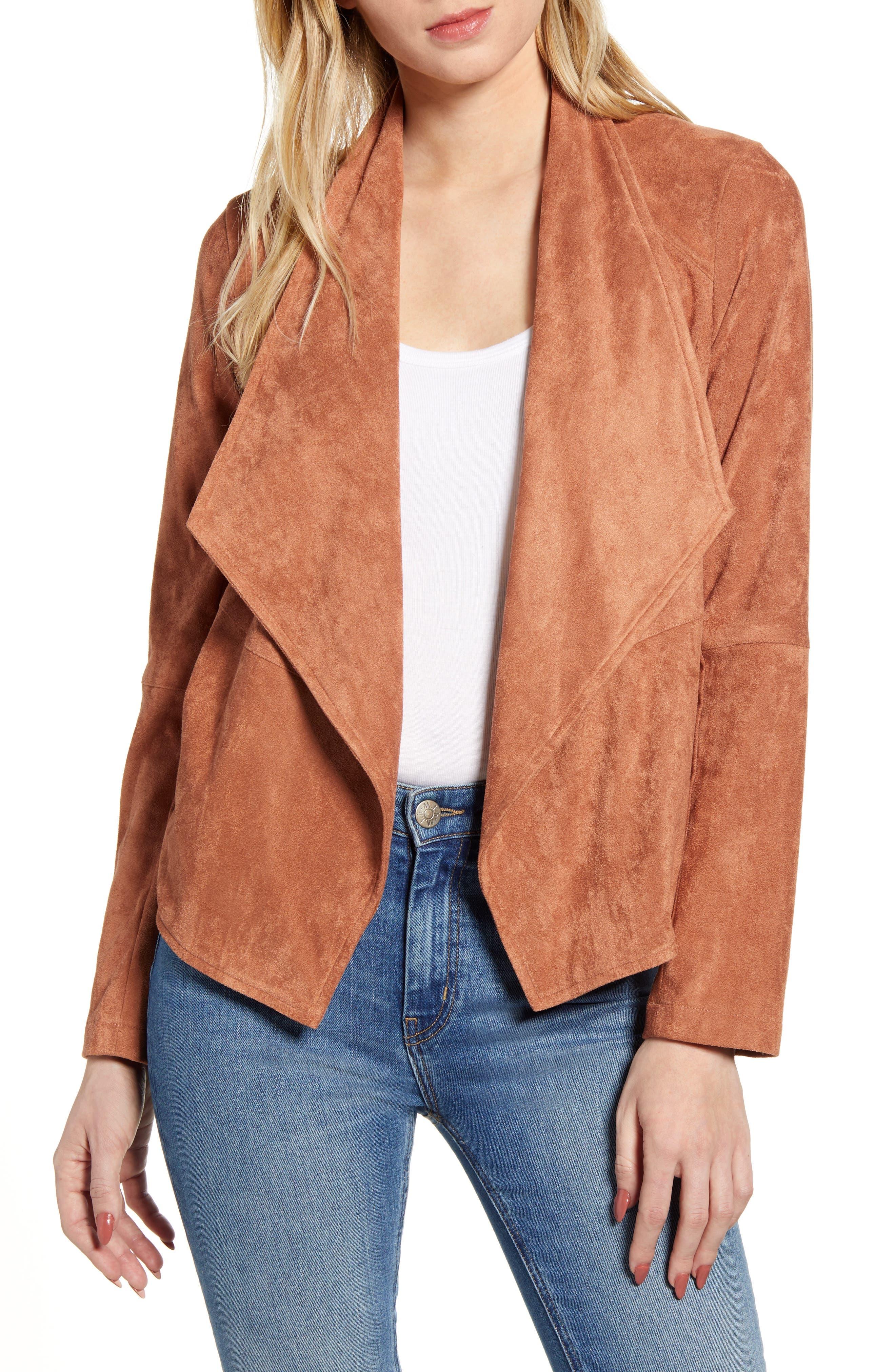 Rain Rose Cozy Modern Faux Suede Jacket
