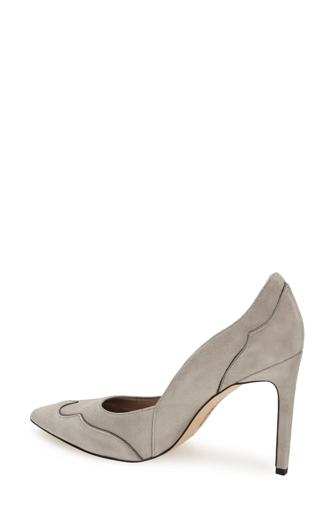 'Dixie' Suede Pointy Toe Pump,                             Alternate thumbnail 2, color,                             Winter Sky