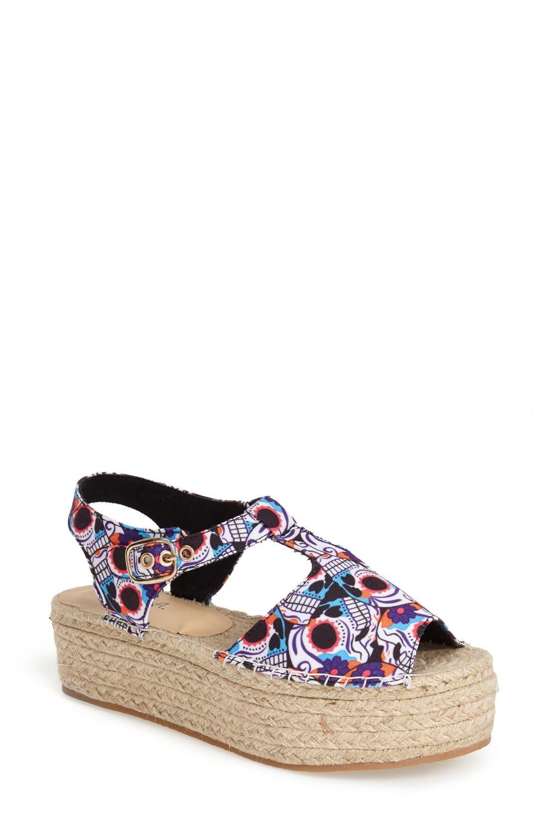 Alternate Image 1 Selected - N.Y.L.A. 'Alstacia' Espadrille Platform Sandal (Women)