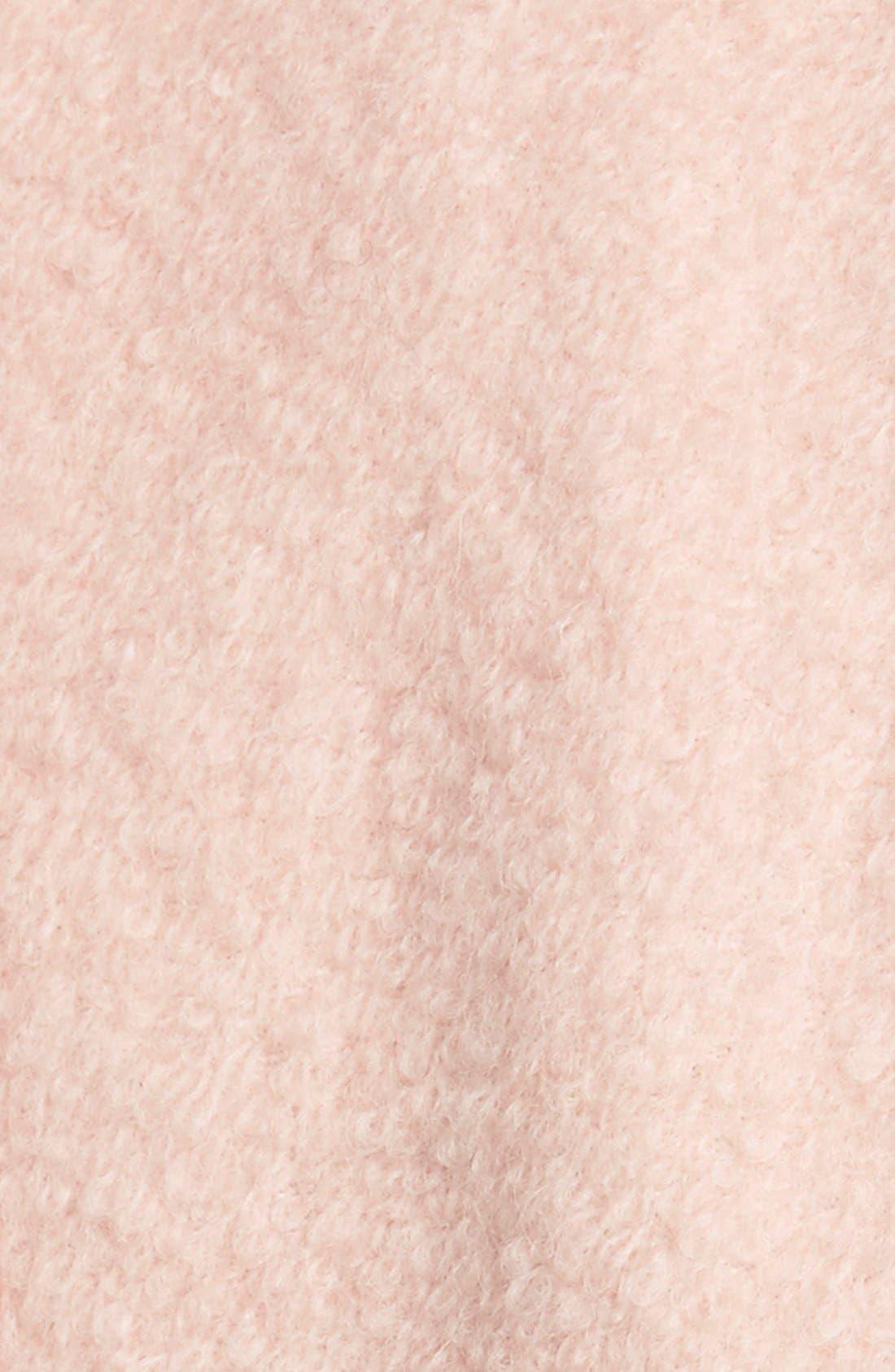 Alternate Image 4  - GUESS Double Breasted Bouclé Cutaway Coat (Regular & Petite)