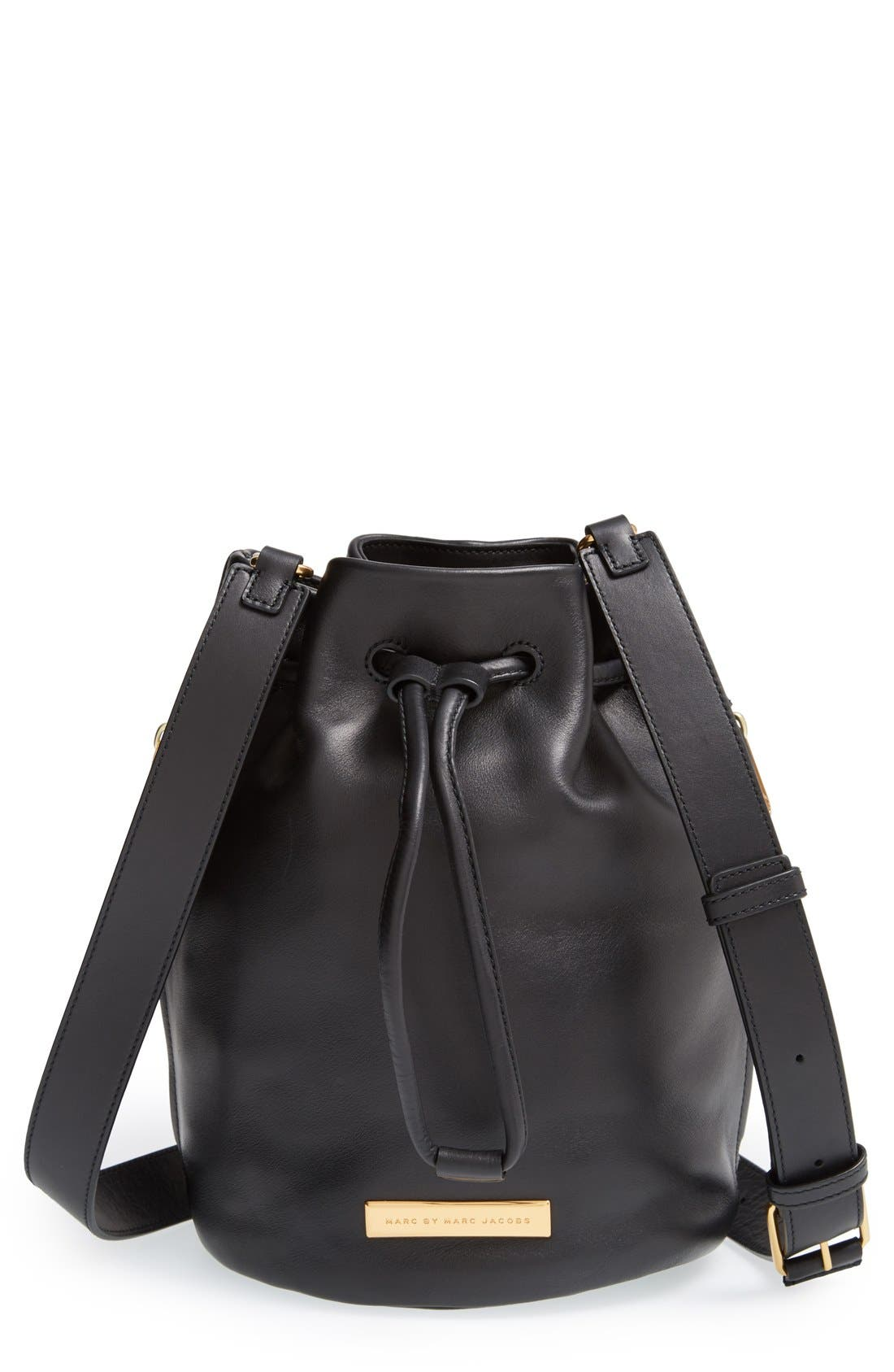 Alternate Image 1 Selected - MARC BY MARC JACOBS 'Luna' Leather Drawstring Bucket Bag