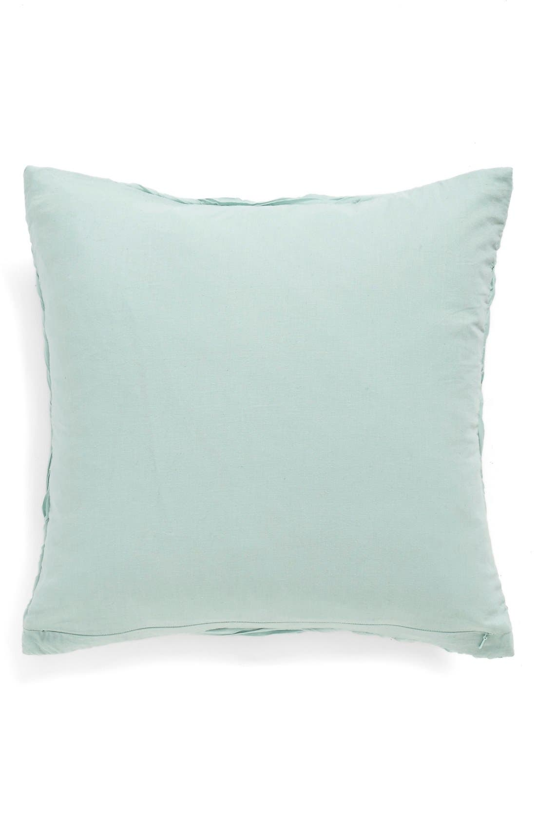 'Full Bloom' Accent Pillow,                             Alternate thumbnail 2, color,                             Teal Mist